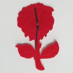 Orologio rosa rossa