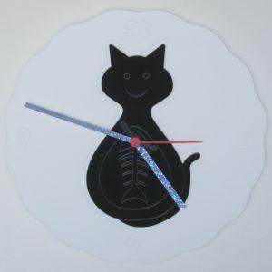 Orologio epicicloide 12 anelli con inserto gatto felix nero