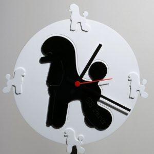 Orologio circolare con inserto Poodle