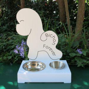 Porta ciotola per cani BICHON