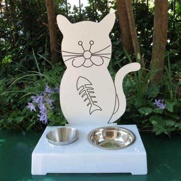 Porta ciotola per gatti BAFFONE