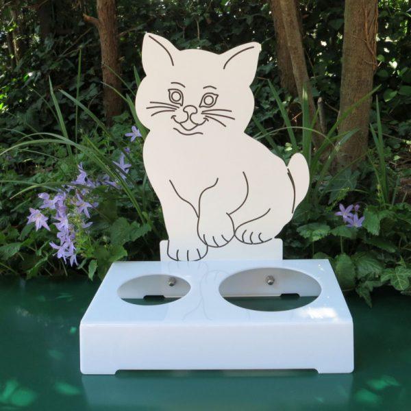Porta ciotola per gatti MICIO PALLINO